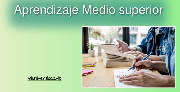 Reforzar el aprendizaje planea educación Media superior