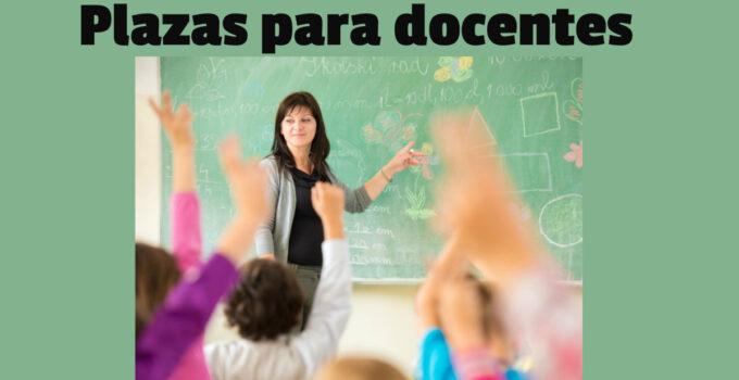 Plazas para docentes