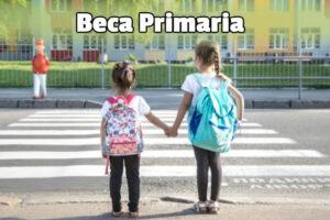 Niños de primaria reciben una beca